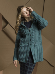 Crossing Columns Cardi designed by Margret Willson